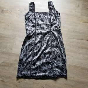 Free people silky floral bodycon dress mini